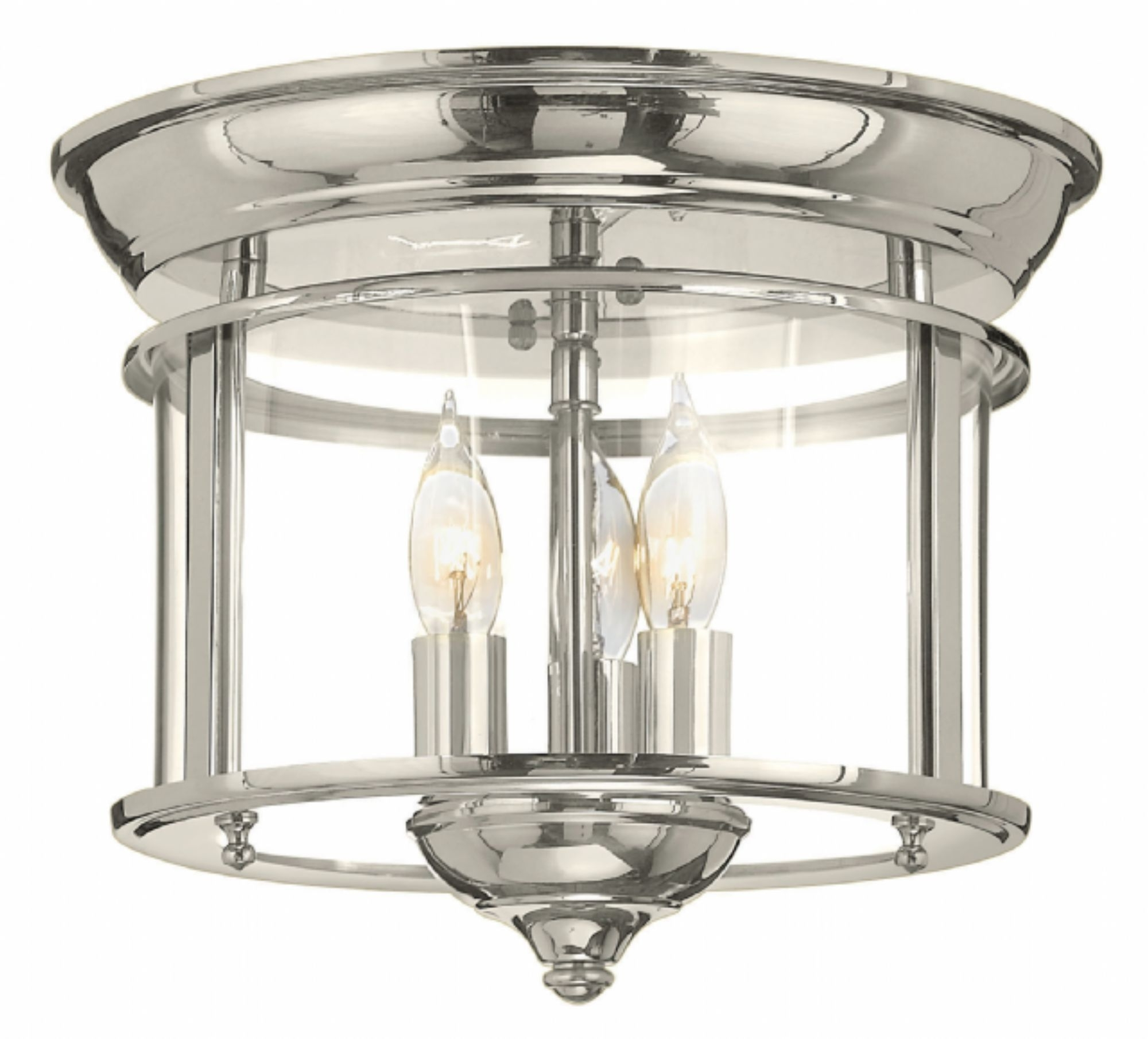 Flush Mount Hinkley Lighting With Best And Newest Polished Nickel Gentry > Interior Ceiling Mount (View 7 of 20)