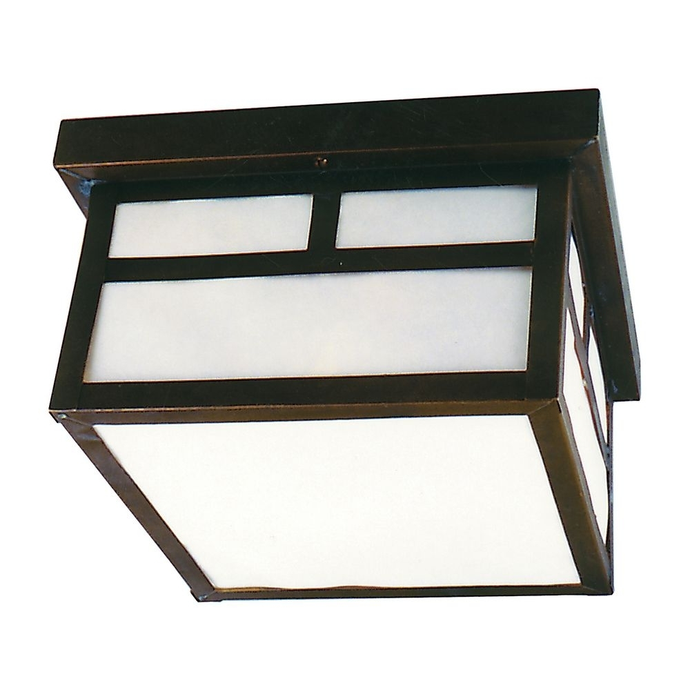 Flushmount Outdoor Ceiling Light (View 16 of 20)