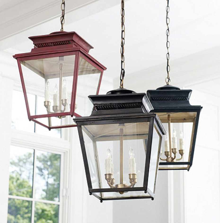 Front Porch Rustic Home Exterior Decoration With Black And Red With Preferred Outdoor Hanging Decorative Lanterns (View 13 of 20)