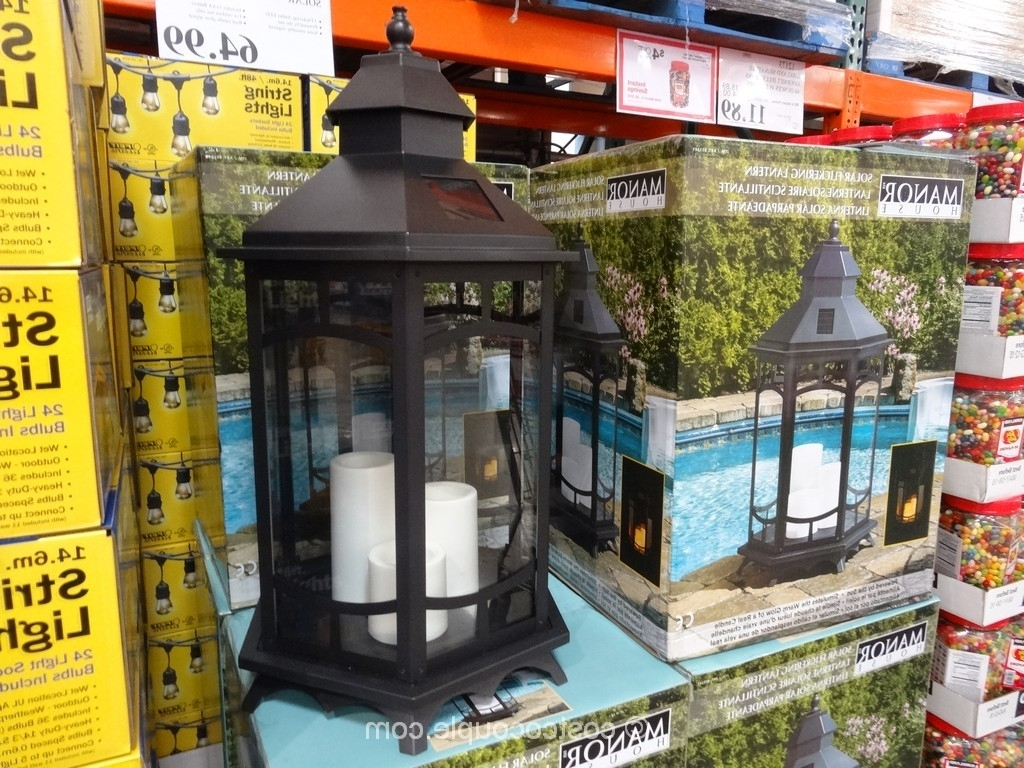 Furniture : Cool Outdoor Solar Lanterns Costco Garden Lights Patio With Regard To Favorite Solar Garden Lights At Costco (View 6 of 20)