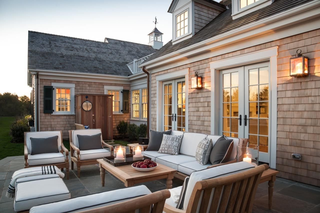 Furniture : Dream House With Cape Cod Architecture And Bright For Famous New England Style Outdoor Lighting (View 5 of 20)