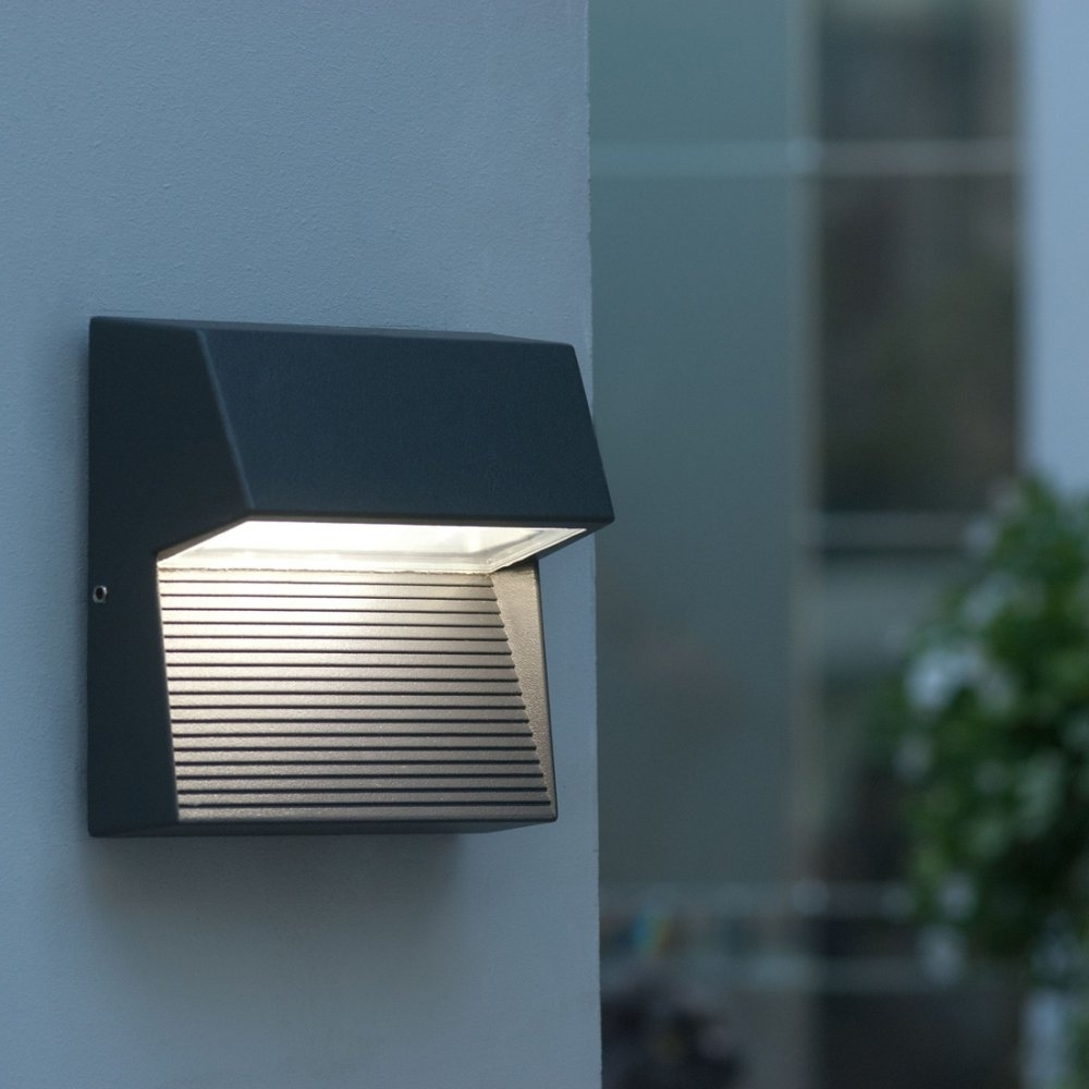 Furniture : Esterno Low Voltage Outdoor Led Wall Light Lighting From With Preferred Outdoor Led Wall Lights For House Sign With Door Number (View 4 of 20)