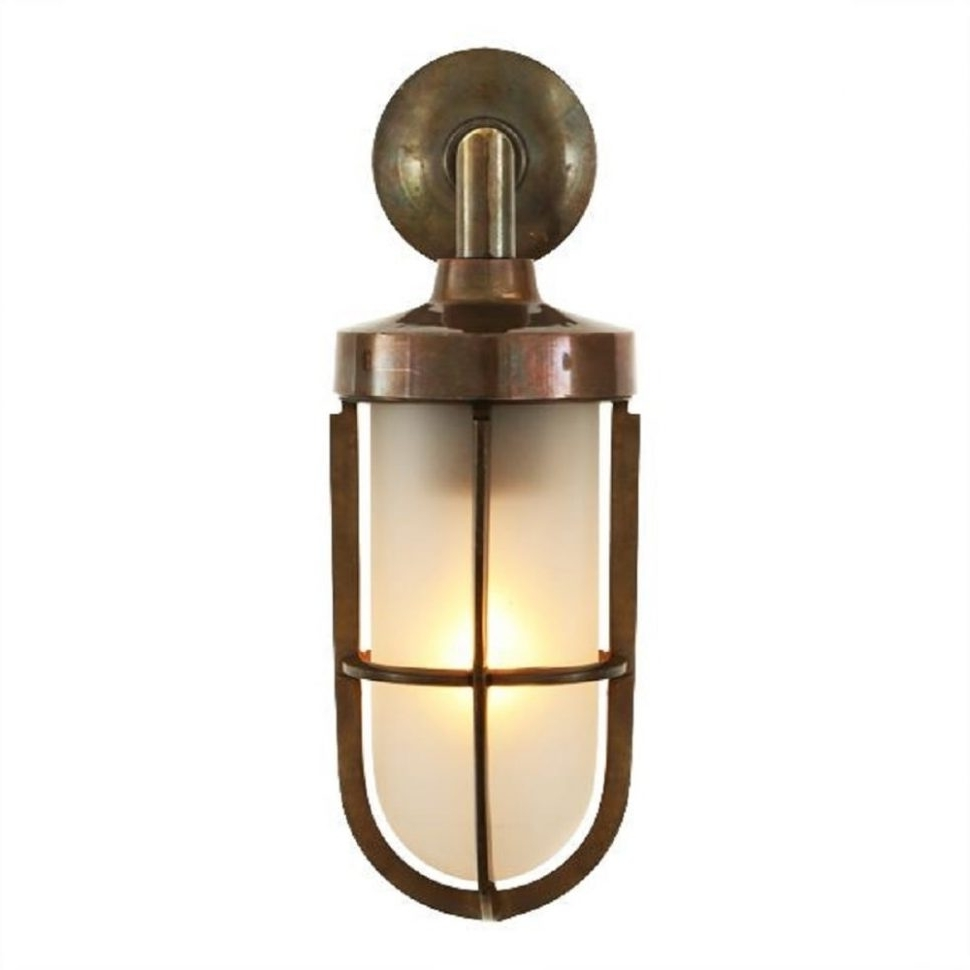 Furniture : Nautical Design Solid Antique Brass Wall Light With With Most Up To Date Antique Brass Outdoor Lighting (View 8 of 20)