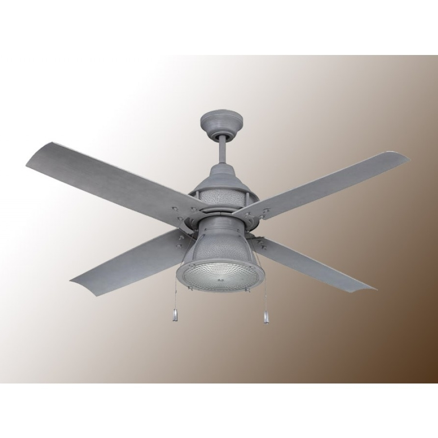 Galvanized Outdoor Ceiling Lights Pertaining To Famous Craftmade Port Arbor Ceiling Fan – 3 Finish Choices – Par52Ri4 (Gallery 11 of 20)