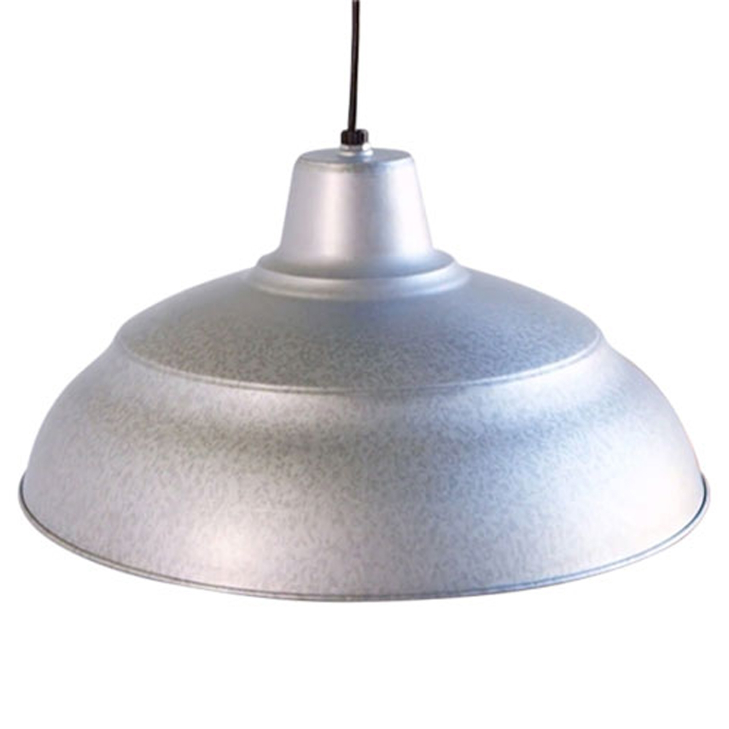 Galvanized Outdoor Ceiling Lights With Regard To Well Known R Series Galvanized 17 Inch Warehouse Cord Hung Outdoor Pendant (Gallery 1 of 20)