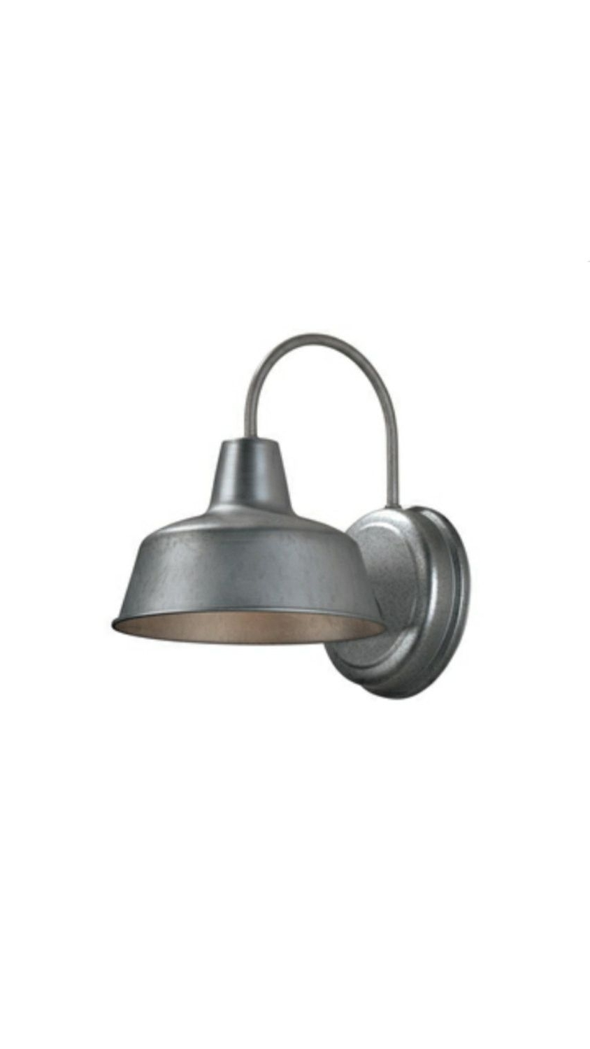 Galvanized Outdoor Ceiling Lights Within Popular Farmhouse Sconce Light (View 11 of 20)