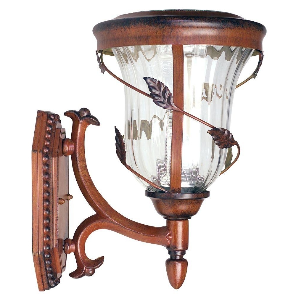 Gama Sonic Flora Solar Antique Bronze Outdoor Wall Lantern Gs 113W Throughout Most Recently Released Solar Outdoor Wall Light Fixtures (Gallery 10 of 20)
