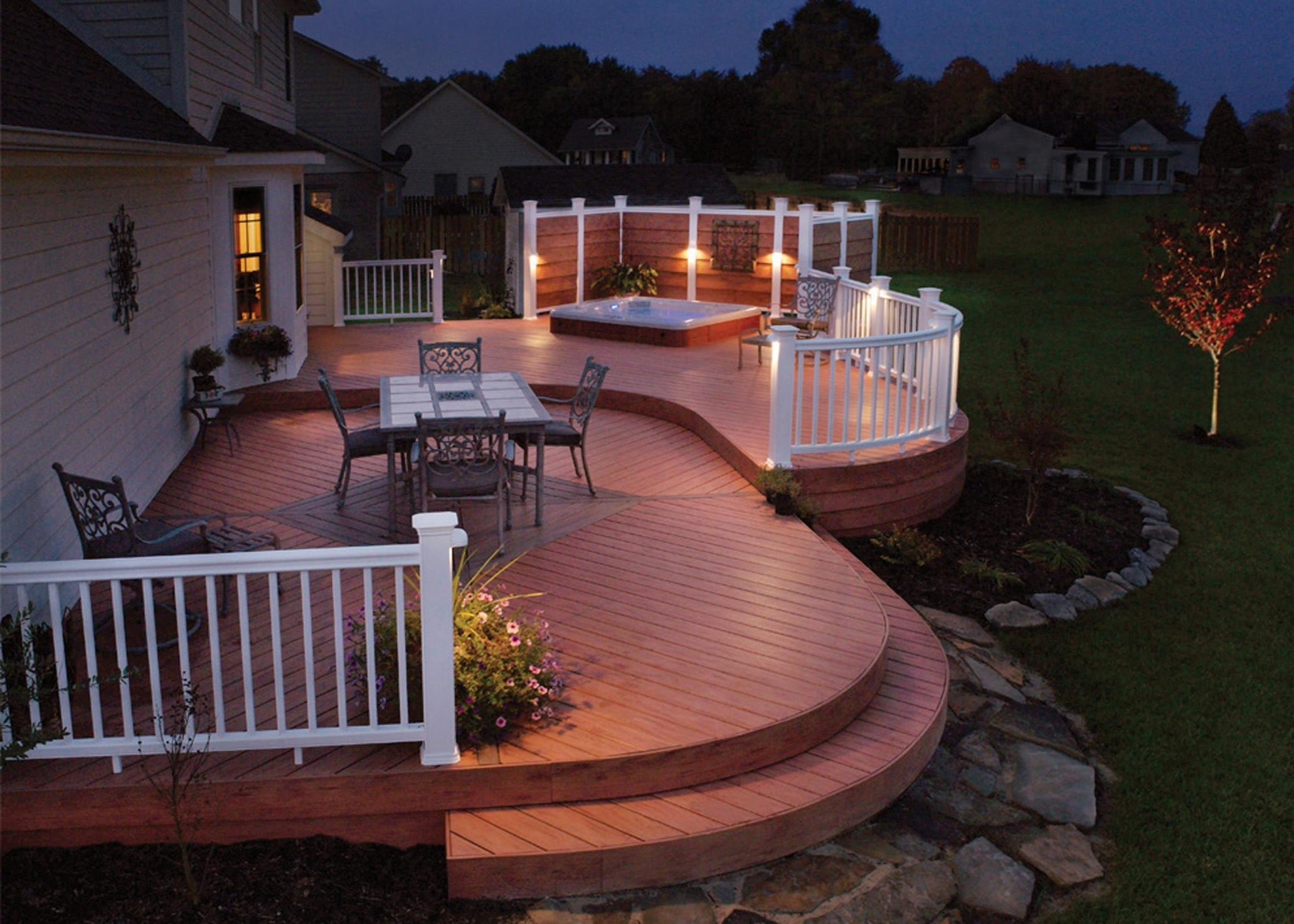 Garden Ideas : Deck Lighting Ideas Some Tips To Get The Best Outdoor Pertaining To Recent Modern Garden Low Voltage Deck Lighting (Gallery 8 of 20)