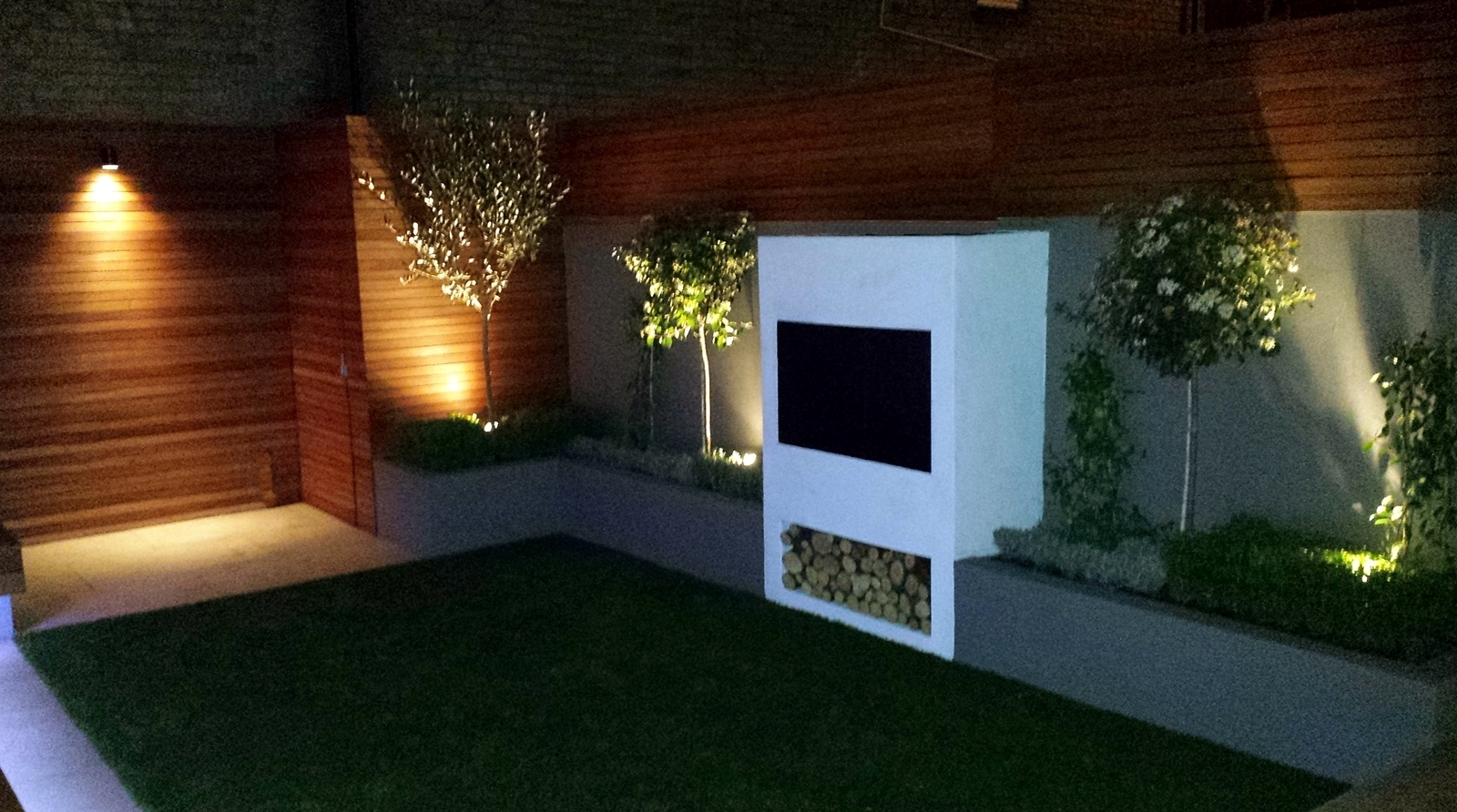 Garden Outdoor Wall Lights For Current Great Amazing Garden Designs With Led Lights Modernbathroom (View 9 of 20)