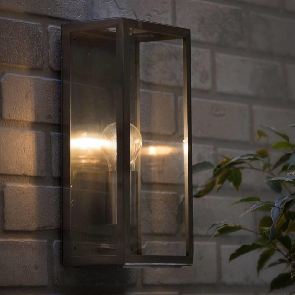Garden Outdoor Wall Lights For Most Recent Modern Garden Outdoor Ip44 Rated Wall Lantern Light Stainless Steel (Gallery 11 of 20)