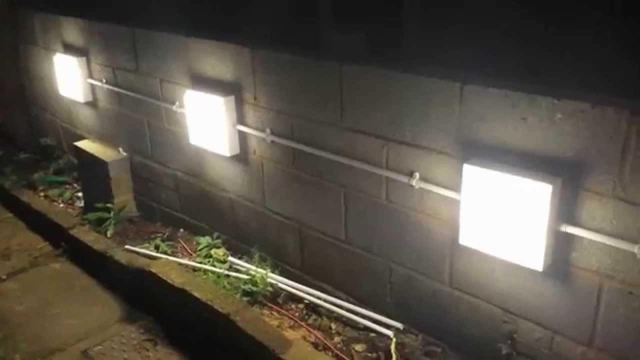 Garden Outdoor Wall Lights Regarding Most Up To Date Installing Garden Wall Lights – Youtube (Gallery 14 of 20)