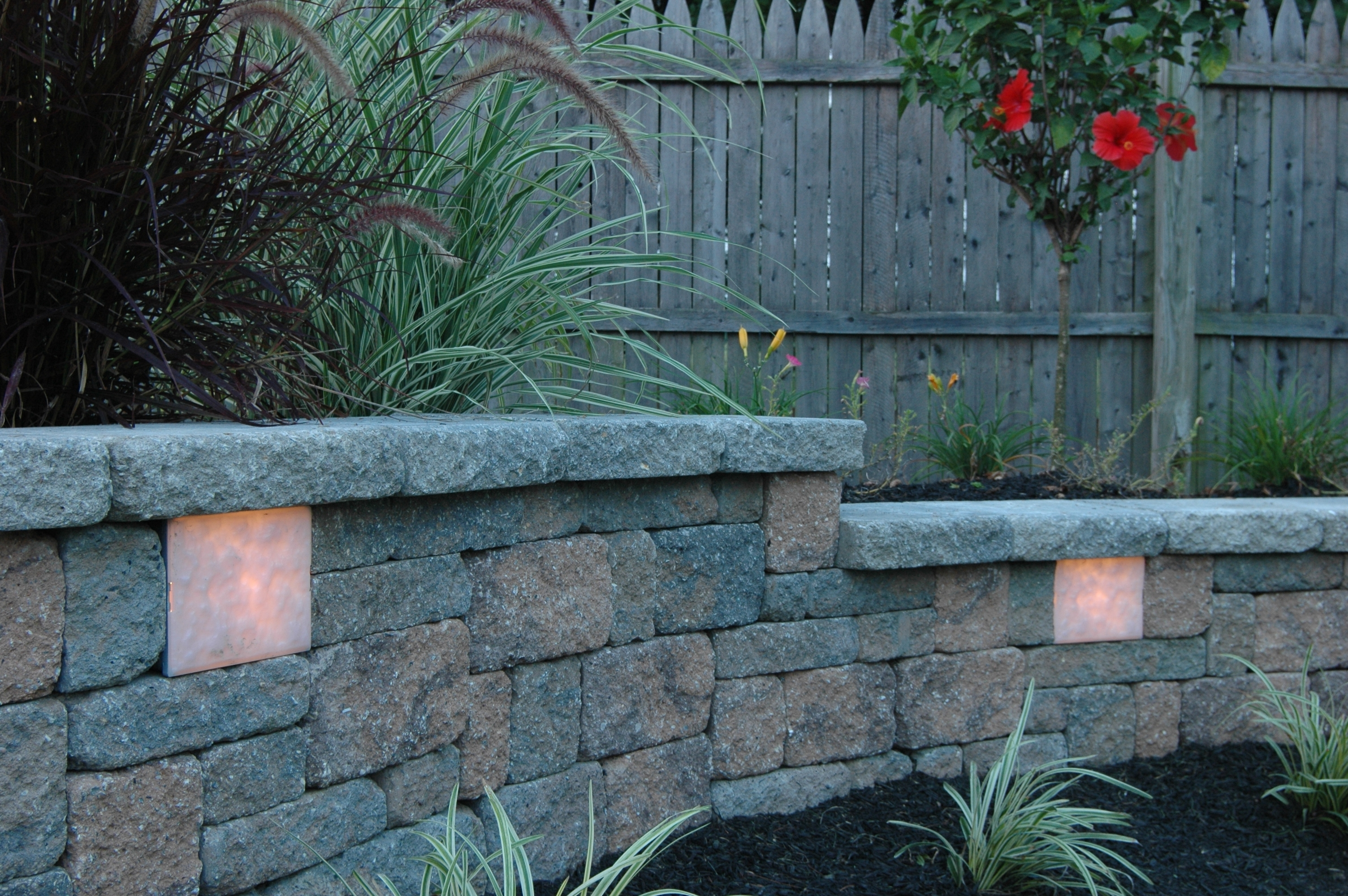 Garden Wall & Retaining Wall Lights – Old Station Landscape For Well Known Outdoor Retaining Wall Lighting (Gallery 1 of 20)
