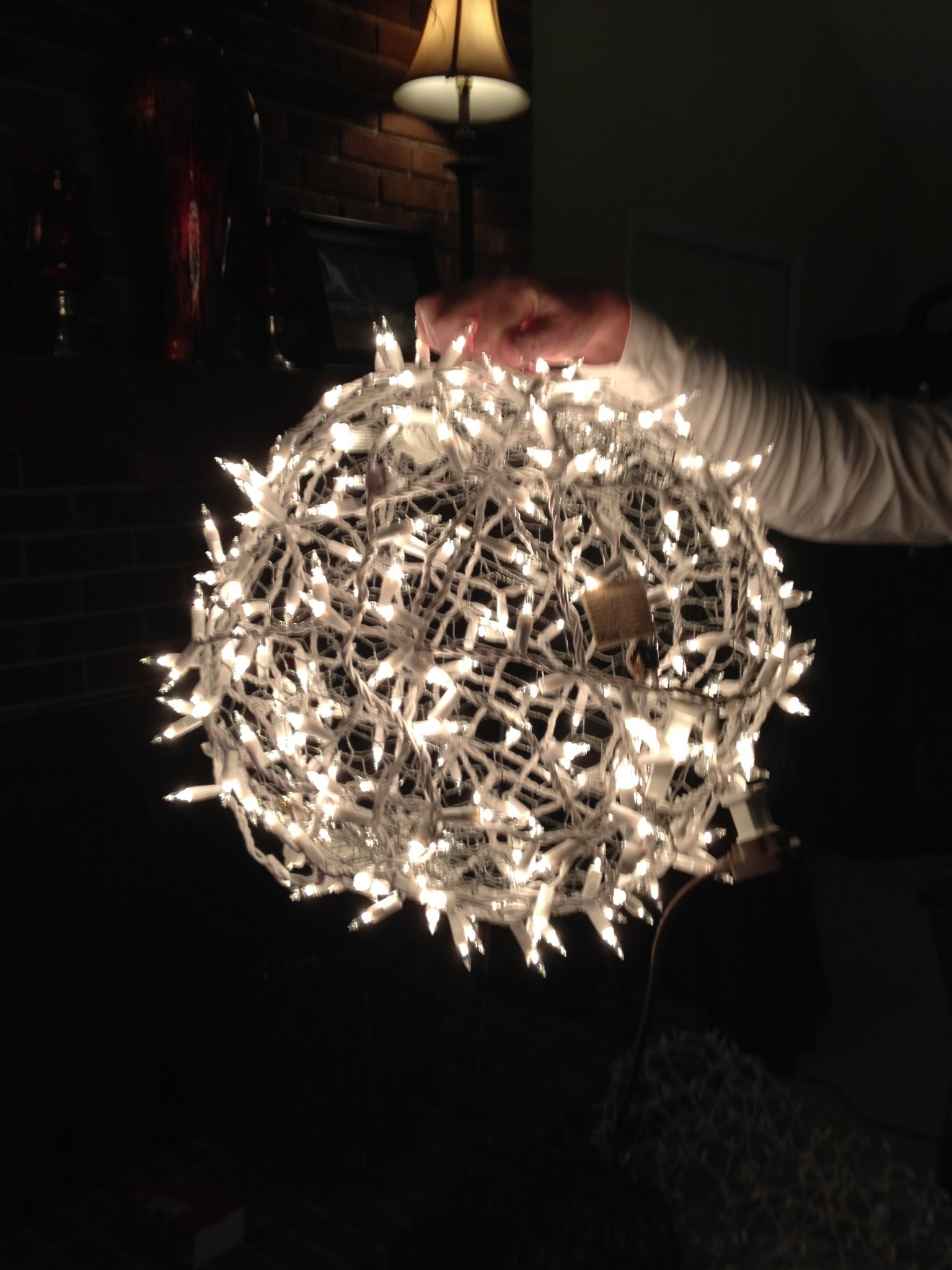 Giant Lighted Christmas Balls – How To Hang Them On A Tree – Youtube Inside Widely Used Outdoor Hanging Snowflake Lights (Gallery 8 of 20)