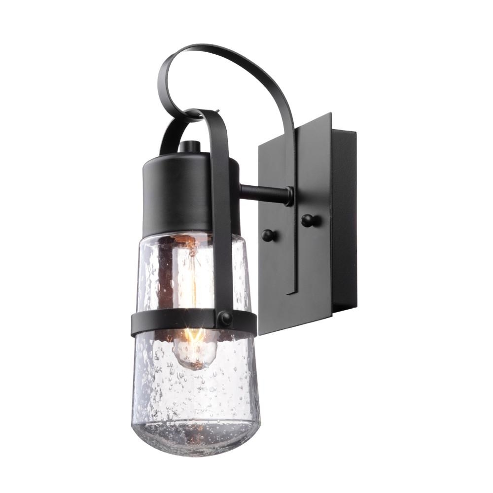 Globe Electric Helm 1 Light Matte Black Outdoor Wall Mount Sconce With Regard To Recent Outdoor Wall Mounted Globe Lights (View 4 of 20)
