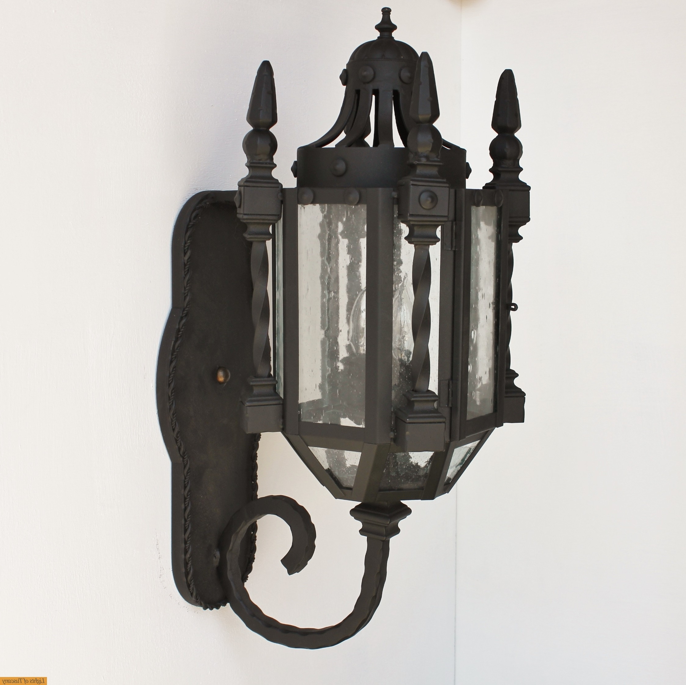 Gothic Outdoor Wall Lighting Inside Fashionable Lights Of Tuscany 7046 3 Wrought Iron Gothic/medieval Wall Lanter (Gallery 3 of 20)