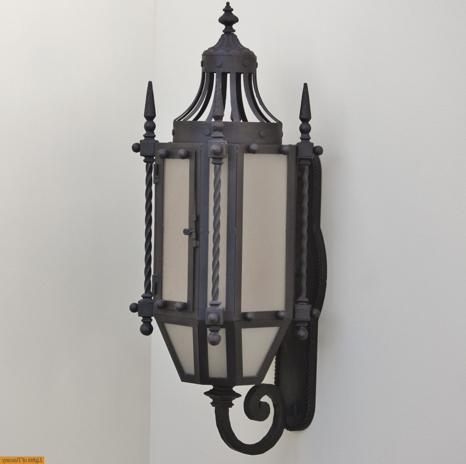 Gothic Outdoor Wall Lighting Regarding Best And Newest Lights Of Tuscany 7048 3 Wrought Iron Gothic/ Medieval Style Wall (View 7 of 20)