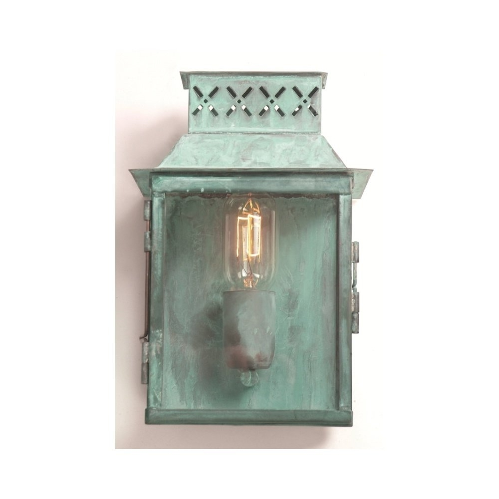 Gothic Outdoor Wall Lighting Regarding Trendy Elstead Lighting Lambeth Palace Outdoor Verdigris Wall Lantern (View 9 of 20)