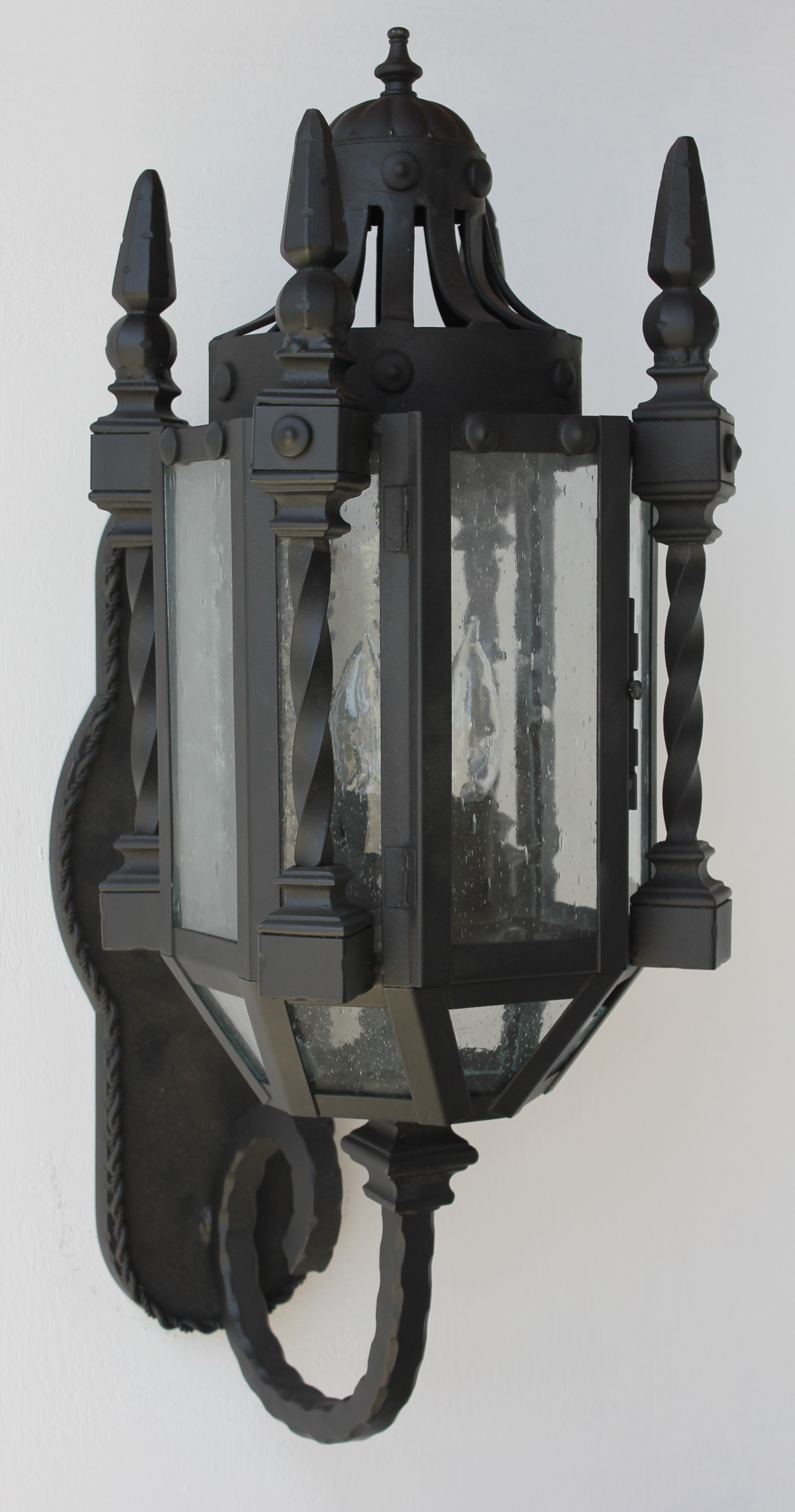 Gothic Outdoor Wall Lighting Throughout Most Recent Lights Of Tuscany 7046 3 Wrought Iron Gothic/medieval Wall Lanter (Gallery 11 of 20)