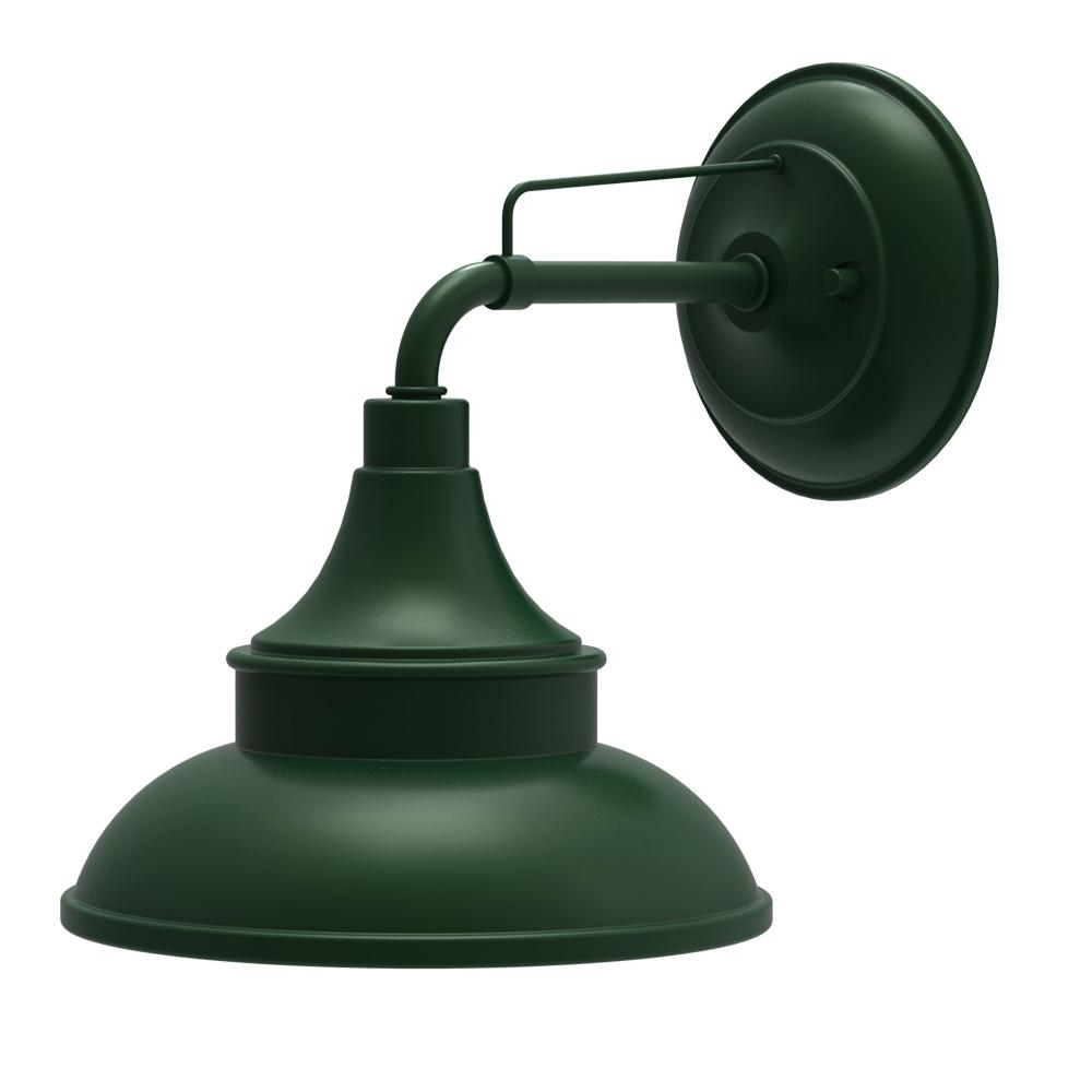 Green Outdoor Wall Lights With Famous Hampton Bay Hunter Green Outdoor Barn Light Wall Mount Sconce (Gallery 12 of 20)