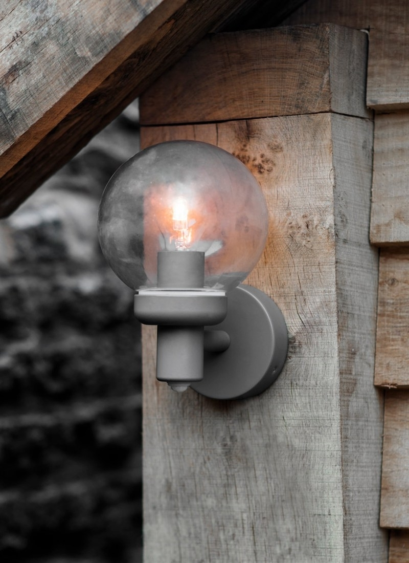 Grey Outdoor Wall Lights Throughout Most Recently Released Aldgate Pir Outdoor Wall Lamp – Steel (Gallery 15 of 20)
