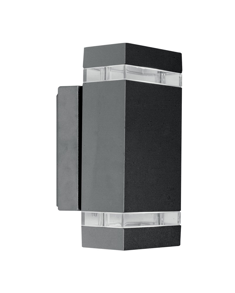 Grey Outdoor Wall Lights With Regard To Most Current Lighting Focus Led 7.6W Outdoor Twin Wall Light In Dark Grey Finish (Gallery 6 of 20)