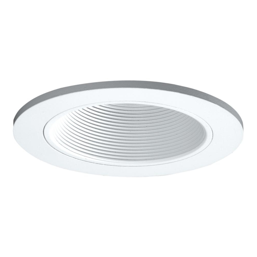 Halo 3 In. White Recessed Ceiling Light Adjustable Baffle Trim With Most Current Outdoor Recessed Ceiling Lighting Fixtures (Gallery 10 of 20)
