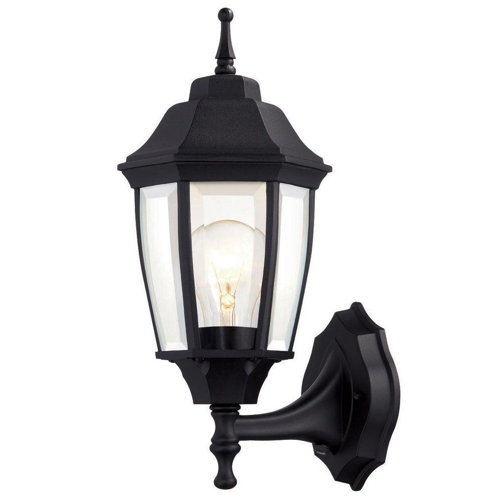 Hampton Bay 1 Light Black Dusk To Dawn Outdoor Wall Lantern Within 2019 Hampton Bay Outdoor Lighting And Lamps (View 6 of 20)