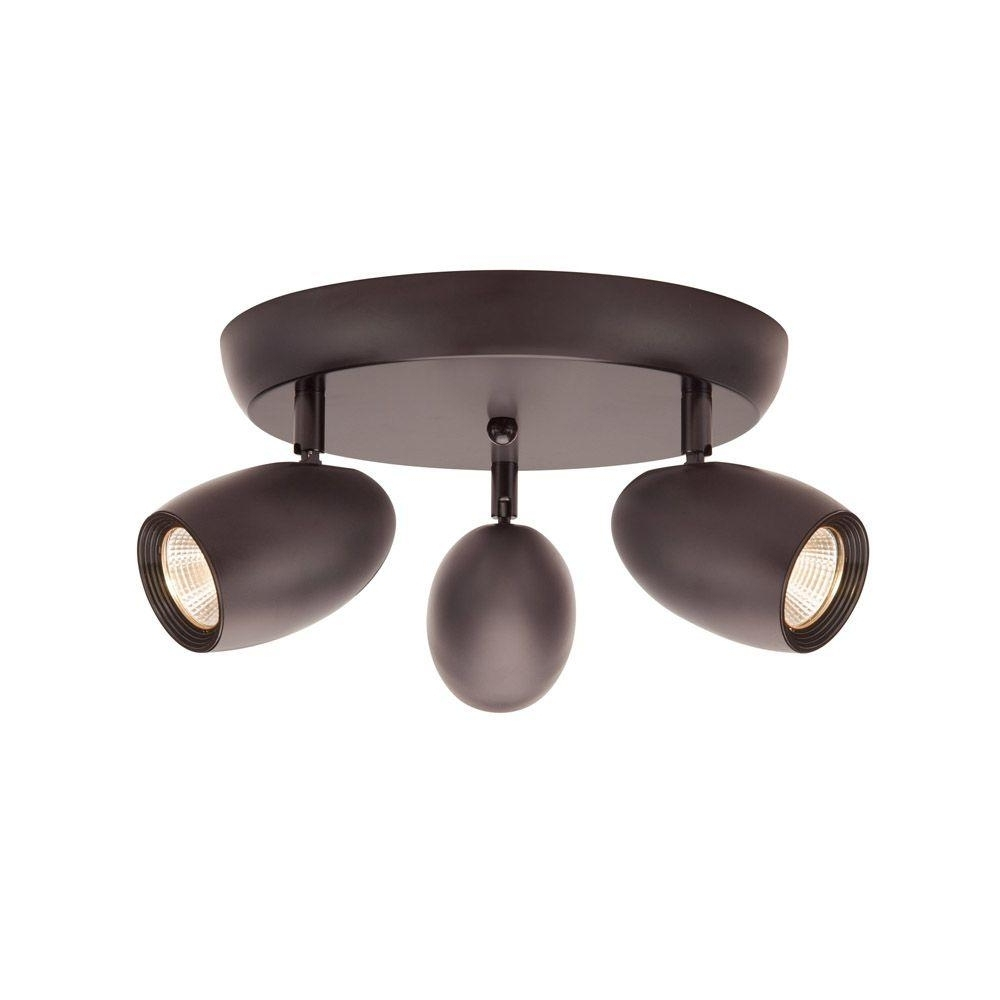 Hampton Bay 3 Light Bronze Led Dimmable Spot Light With Directional In Best And Newest Outdoor Directional Ceiling Lights (Gallery 12 of 20)