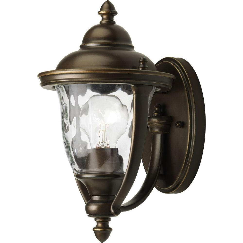 Hampton Bay Prestwick Collection 1 Light Oil Rubbed Bronze Outdoor Regarding Widely Used Small Outdoor Wall Lights (View 9 of 20)