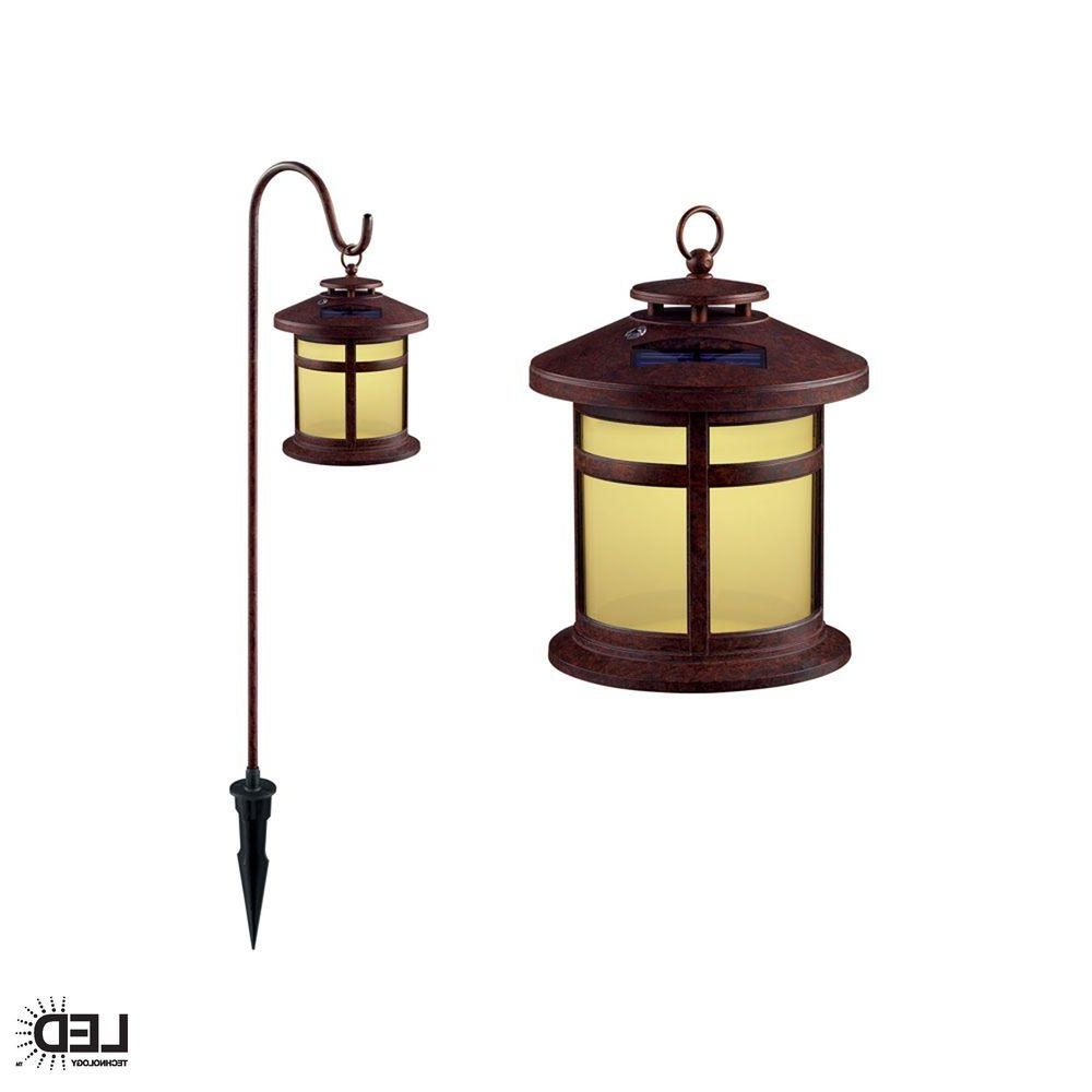 Hampton Bay Reviere Rustic Bronze Outdoor Solar Led Light (6 Pack With Regard To Popular Rustic Outdoor Lighting At Home Depot (View 13 of 20)