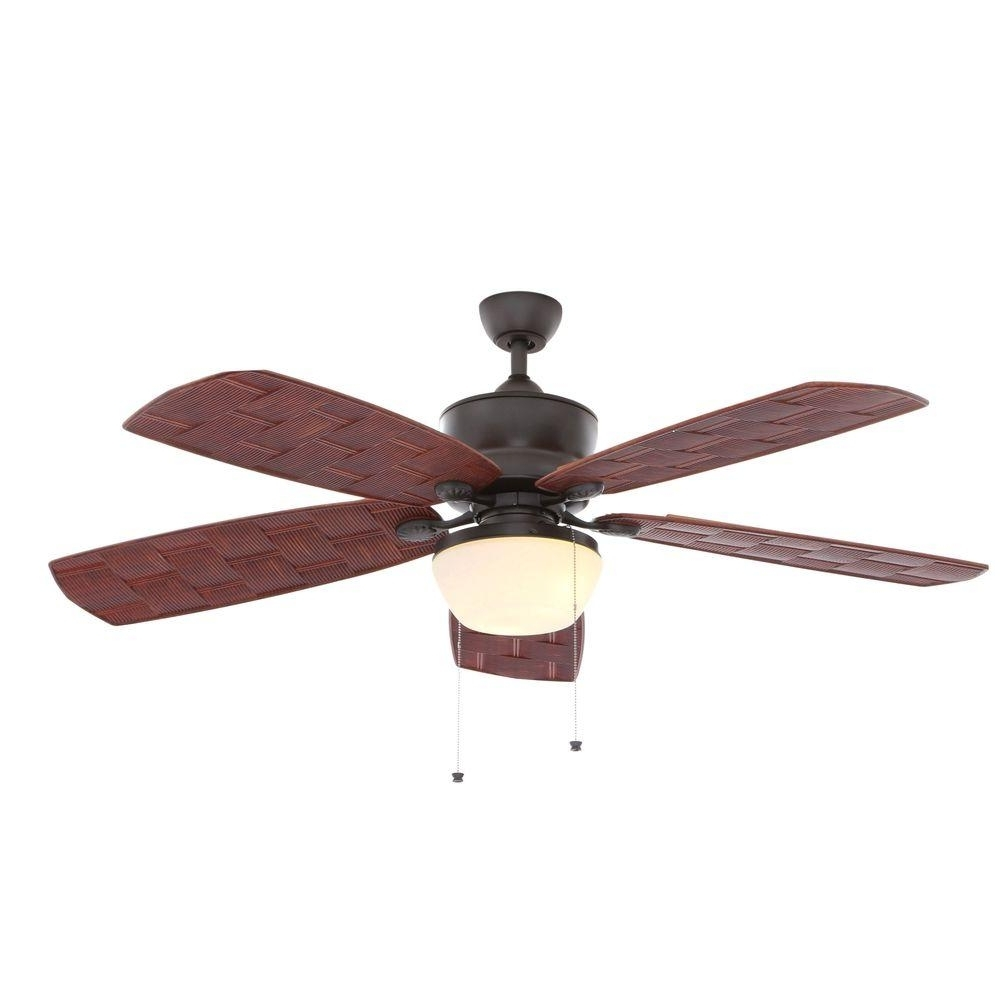 Hampton Bay Rocio 60 In. Natural Iron Indoor/outdoor Ceiling Fan Intended For Most Current Indoor Outdoor Ceiling Fans Lights (Gallery 13 of 20)