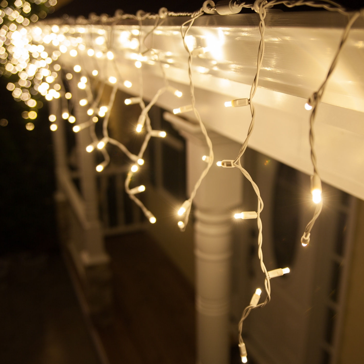 Hang Warm White Icicle Lights Outdoors And Inside Too! So Cozy For Throughout Recent Outdoor Hanging Xmas Lights (Gallery 7 of 20)