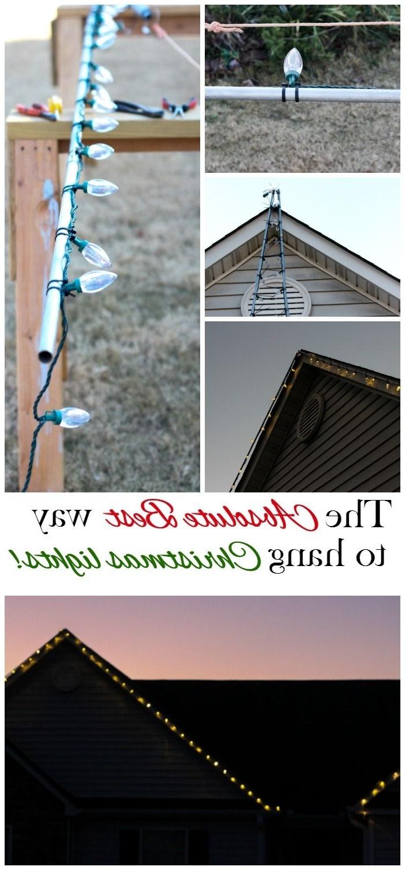 Hanging Christmas Lights Pertaining To Preferred Hanging Outdoor Christmas Lights In Roof (View 17 of 20)