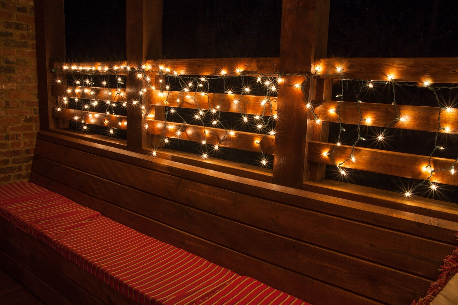 Hanging Outdoor Cafe Lights Within Well Known Deck Lighting Ideas With Brilliant Results! – Yard Envy (View 17 of 20)