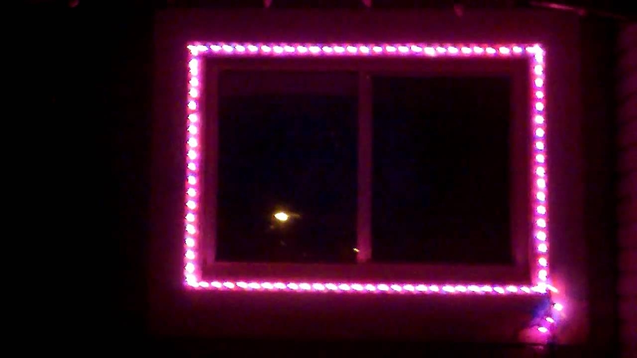 Hanging Outdoor Christmas Lights Around Windows Within Trendy Mini Christmas Light Window Test – Youtube (View 12 of 20)