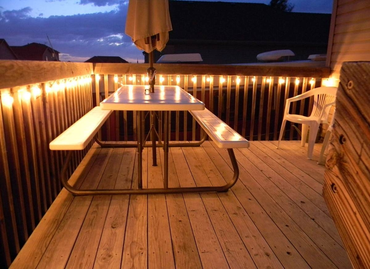 Hanging Outdoor Lights On Deck Intended For Most Recently Released Hanging Outdoor Patio String Lights : Enjoy The Outdoor Patio String (Gallery 18 of 20)