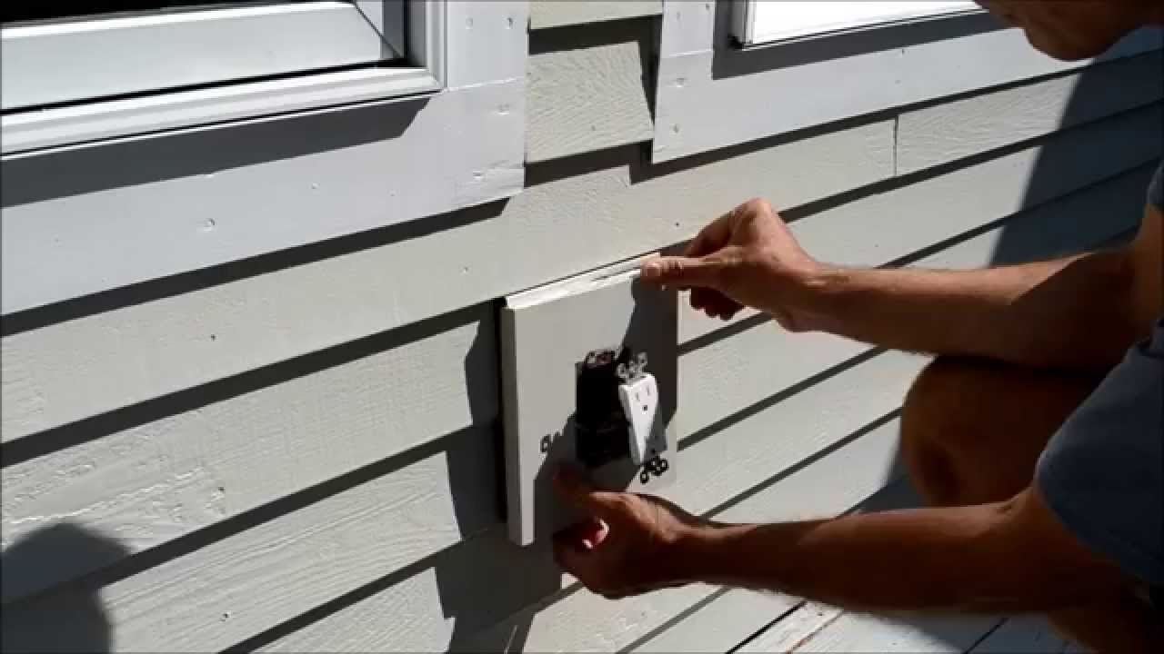 Hanging Outdoor Lights On Vinyl Siding In Latest How To Replace Electrical Outlet Mounting Block Video – Youtube (View 8 of 20)