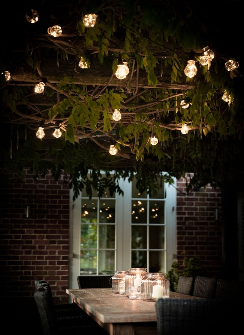 Hanging Outdoor Lights On Wire Throughout Fashionable Festoon Lights, Classic – 20 Bulbs (Gallery 12 of 20)