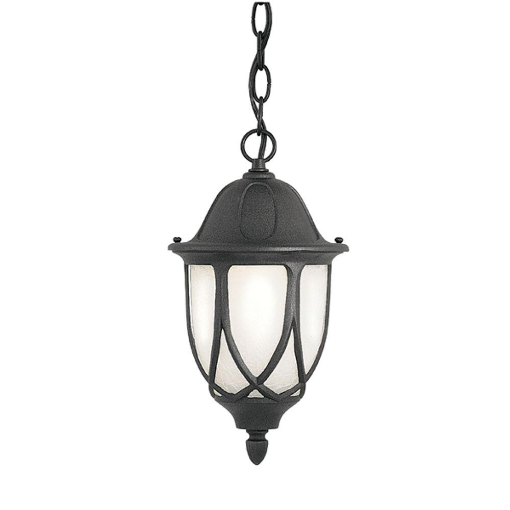 Hanging Outdoor Onion Lights Pertaining To Most Current Designers Fountain Greenwood Collection Hanging Outdoor Black Foyer (View 11 of 20)