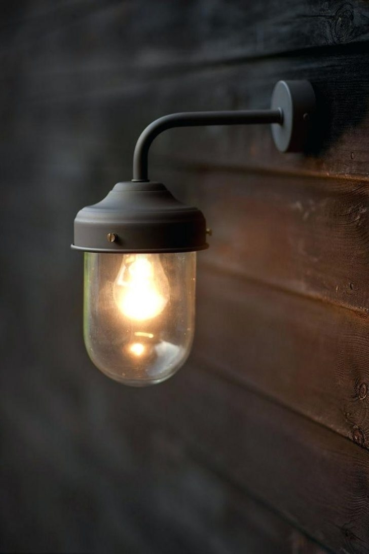 Hanging Outdoor Security Lights Inside Well Known Light : Outdoor Wall Lighting Mounted Exterior Barn Lamp In Coffee (View 10 of 20)