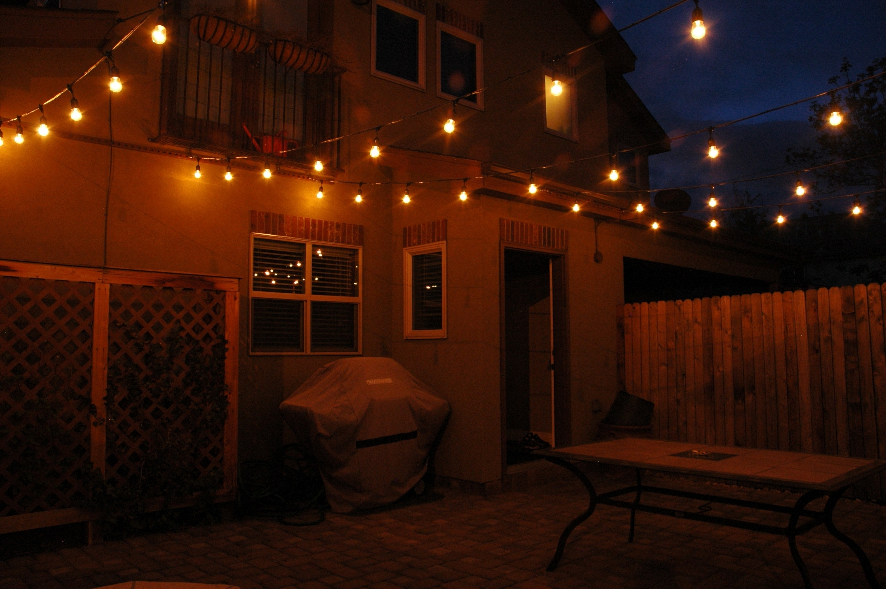 Hanging Outdoor String Lights At Home Depot Within Preferred Hanging Outdoor String Lights Home Depot (View 9 of 20)