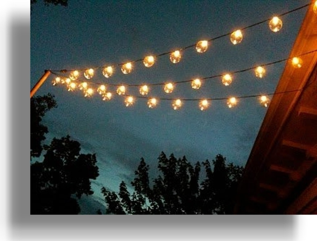 Hanging Outdoor String Lights At Target Intended For Most Recently Released Foot G50 Patio Globe String Lights With Inch Led Outdoor Target (View 7 of 20)