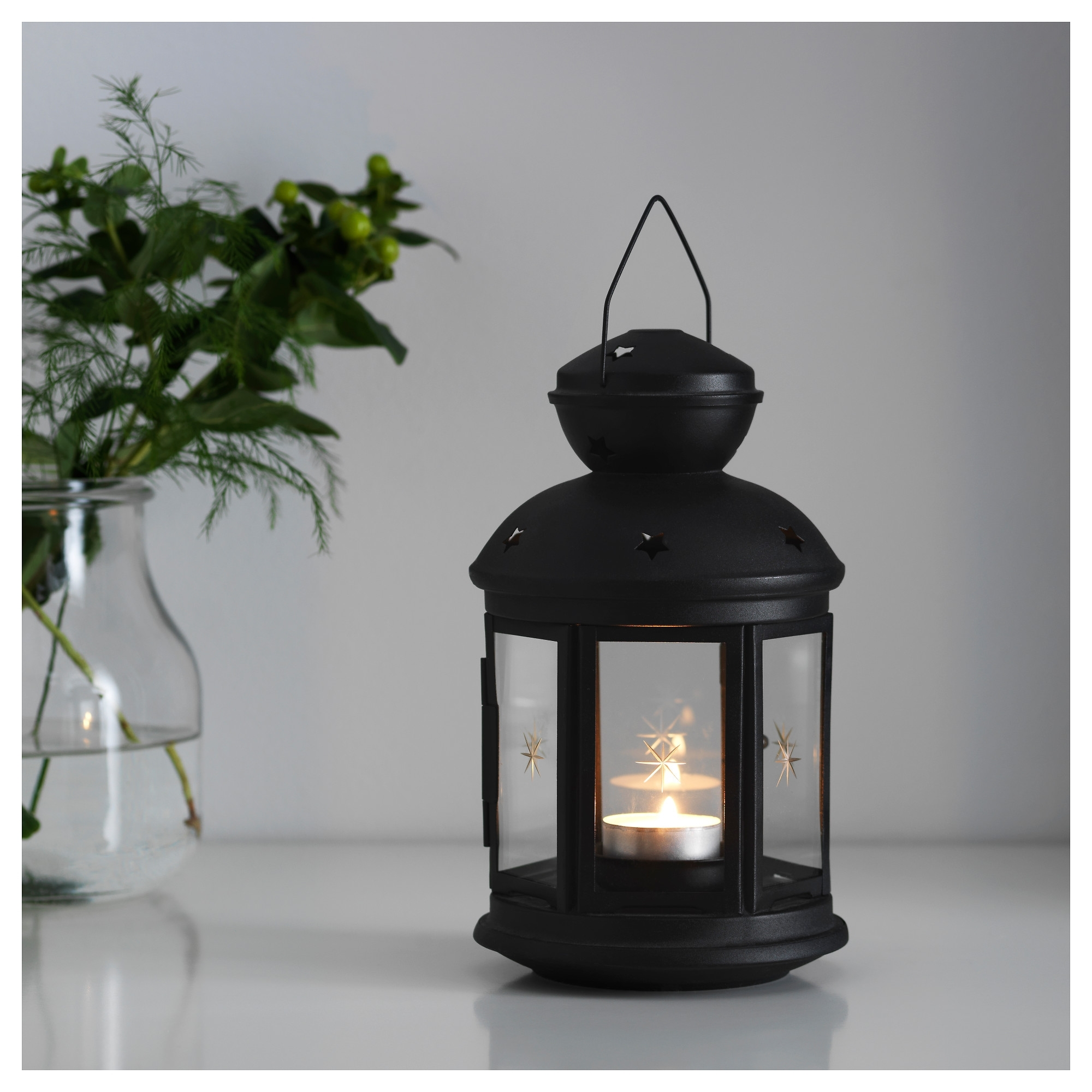 Hanging Outdoor Tea Light Lanterns Throughout Fashionable Rotera Lantern For Tealight – Ikea (View 5 of 20)