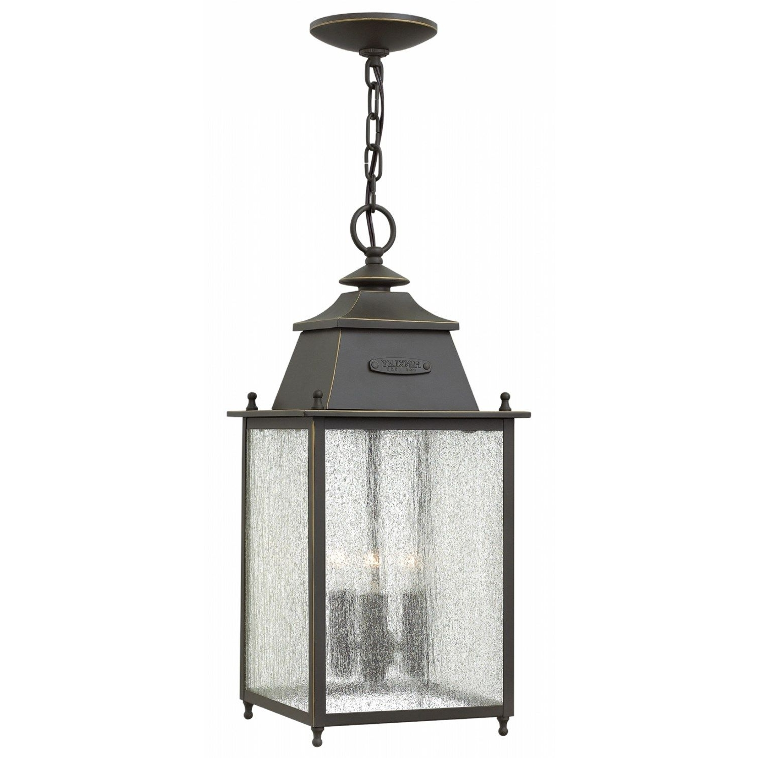 Hanging Porch Hinkley Lighting With Regard To Trendy Hinkley Lighting 2782oz Chatfield 3 Light Outdoor Hanging In Oil (View 7 of 20)