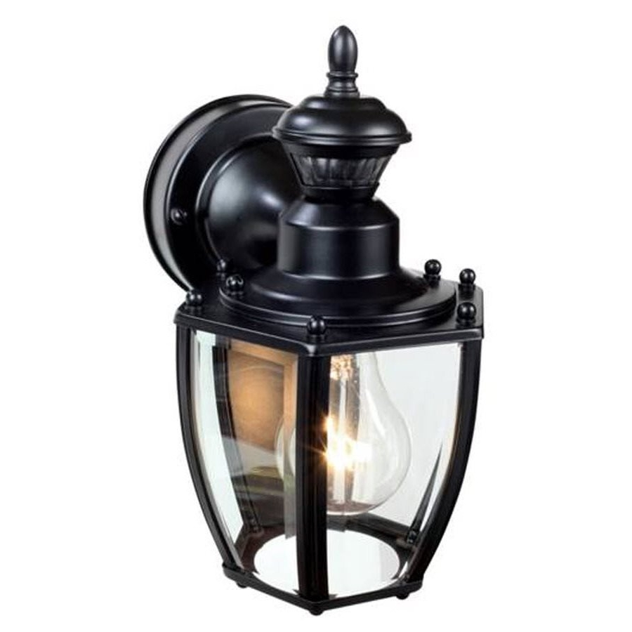 Heath Zenith 11 In H Black Motion Activated Outdoor Wall Light Pertaining To Current Heath Zenith Outdoor Wall Lighting (View 3 of 20)
