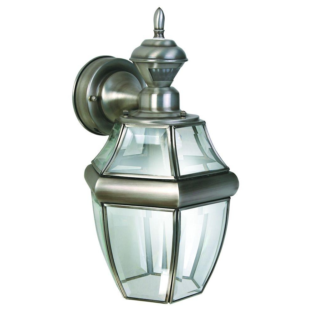 Heath Zenith Outdoor Wall Lighting Throughout Well Known Heath Zenith 150 Degree Silver Hanging Carriage Lantern With Clear (View 11 of 20)