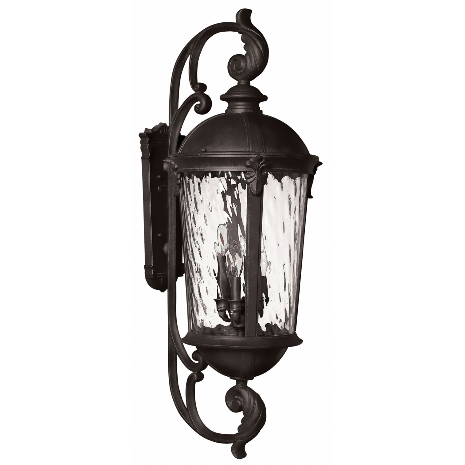 Hinkley 1929Bk Led Windsor 2 Light Extra Large Outdoor Wall Mount Inside Newest Extra Large Wall Mount Porch Hinkley Lighting (View 13 of 20)