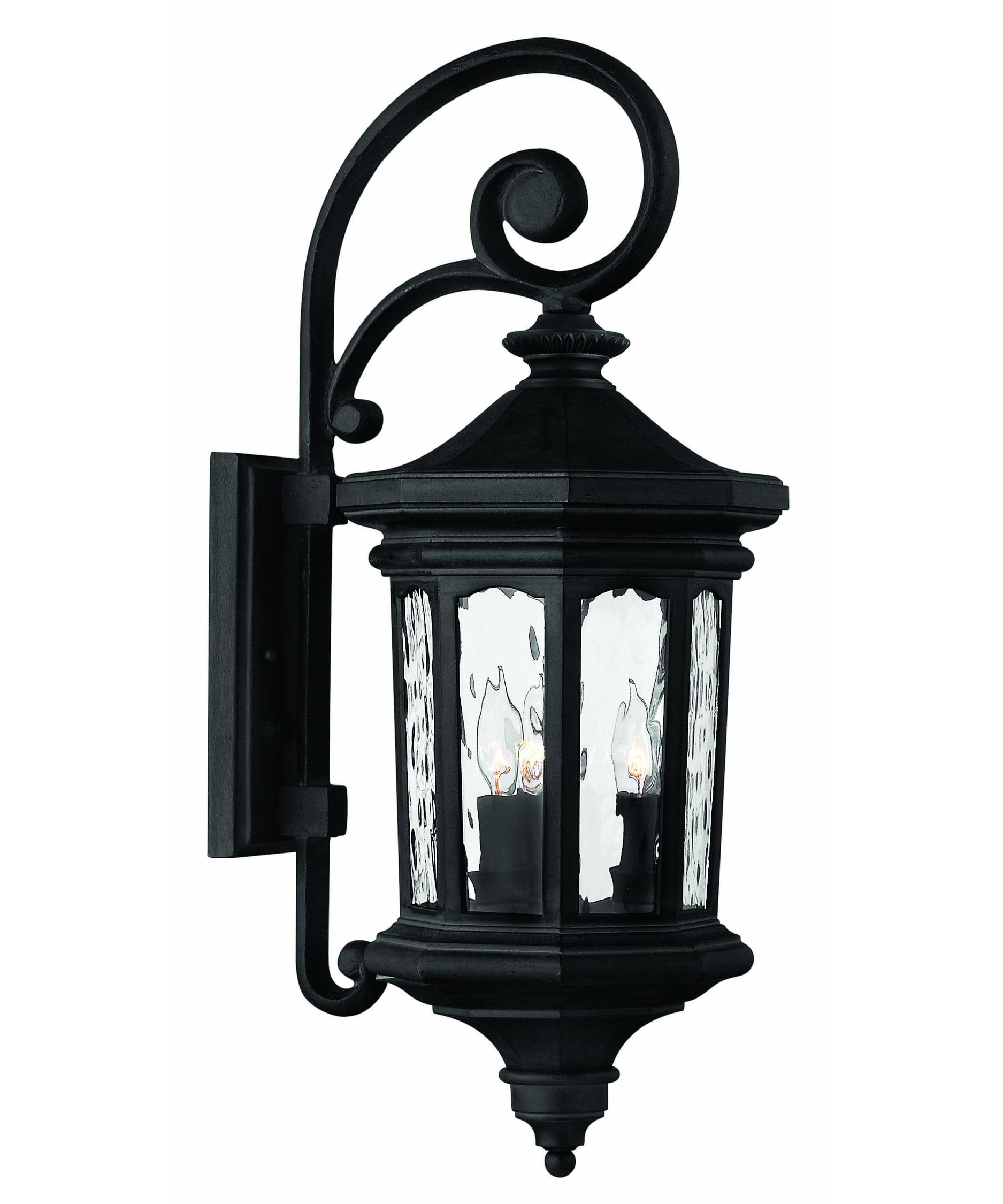 Hinkley Lighting 1604 Raley 10 Inch Wide 3 Light Outdoor Wall Light Intended For Favorite Traditional Outdoor Wall Lighting (View 9 of 20)