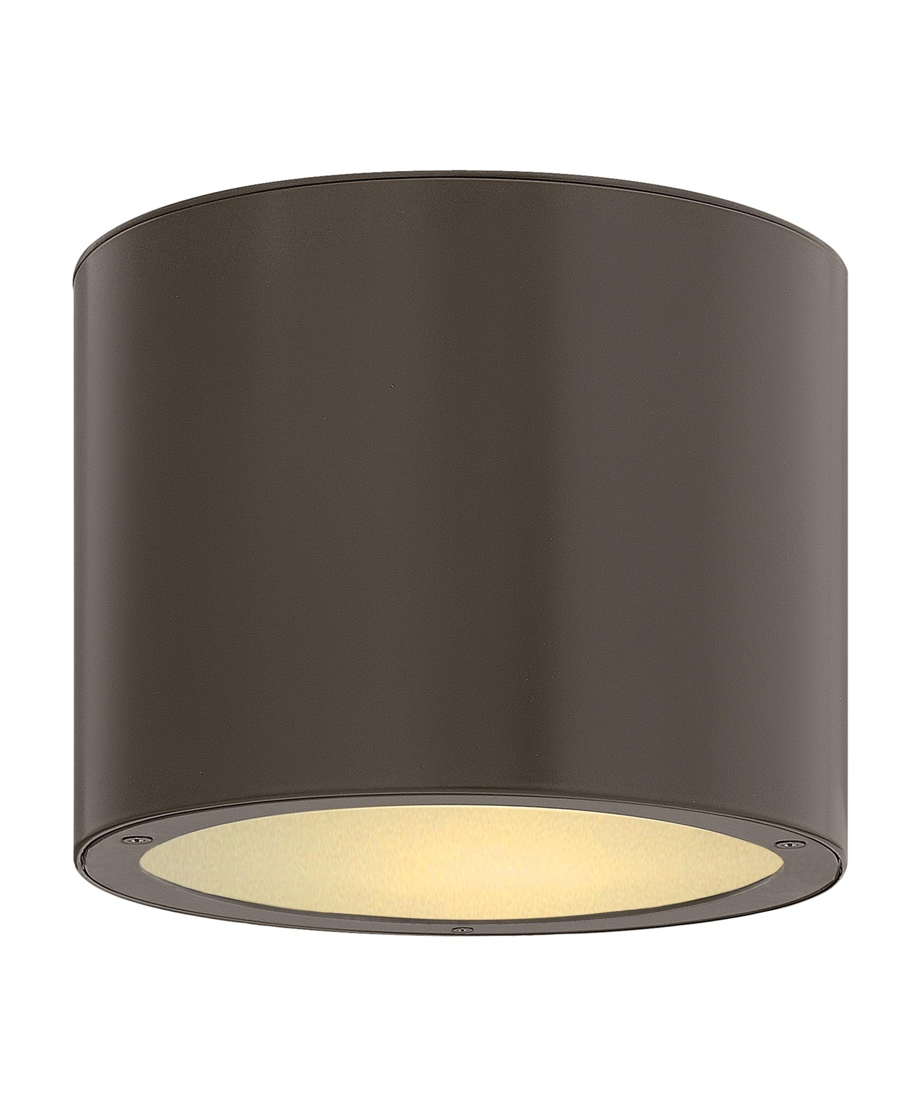 Hinkley Lighting 1663 Luna 8 Inch Wide 1 Light Outdoor Flush Mount Inside Favorite Outdoor Ceiling Lighting Fixtures (View 16 of 20)