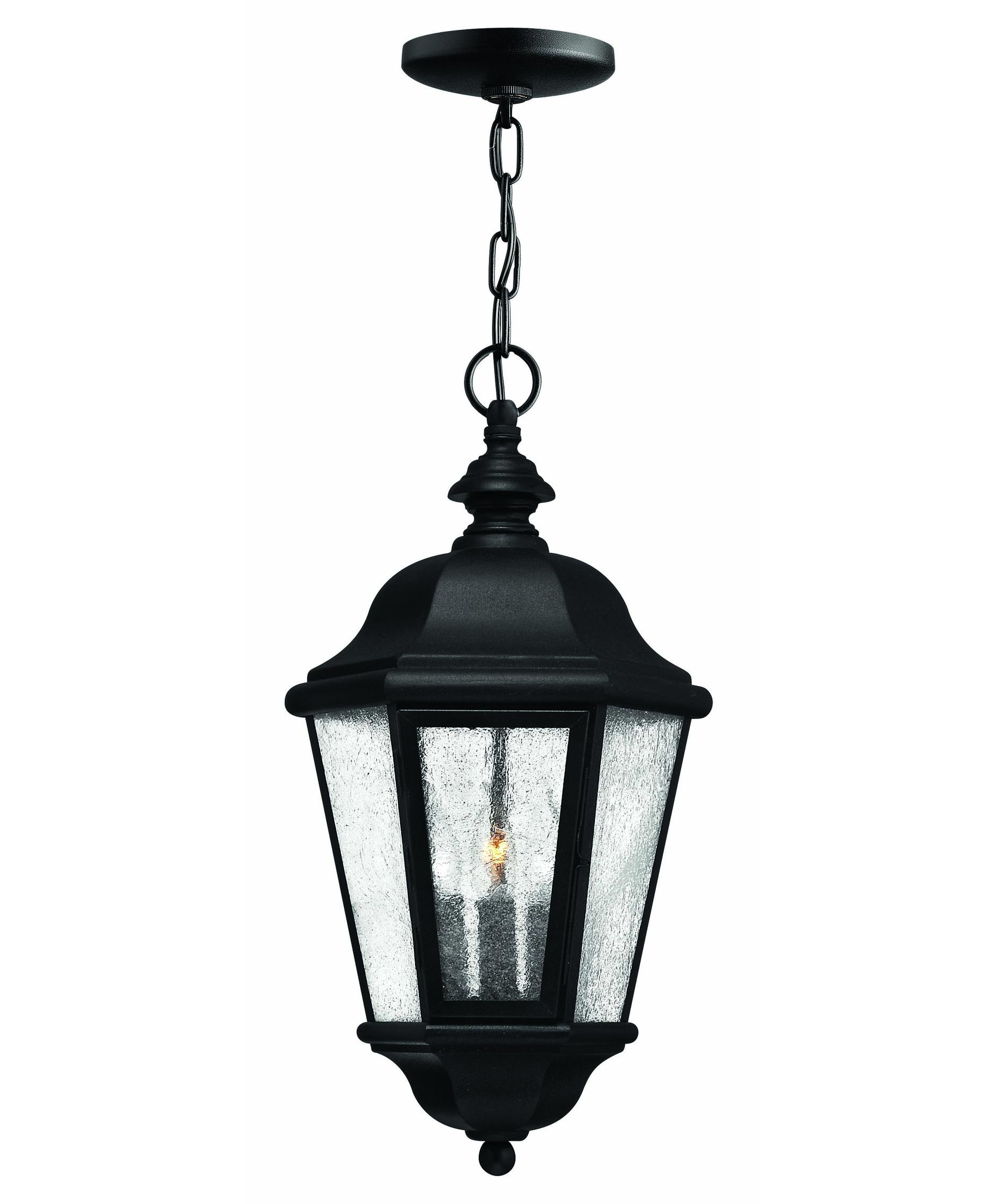 Hinkley Lighting 1672 Edgewater 10 Inch Wide 3 Light Outdoor Hanging For Favorite Outdoor Hanging Light In Black (Gallery 1 of 20)